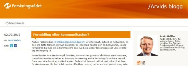 Formidling eller kommunikasjon_blogg