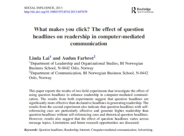 What makes you click_faksimile fra Social Influence