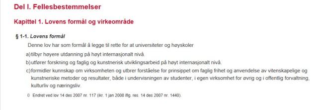 Universitets- og høyskoleloven_faksimile