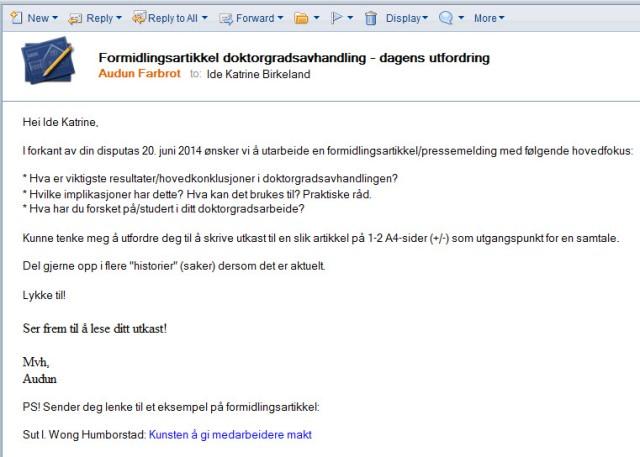 E-post som blir lest_faksimile
