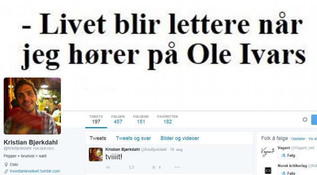 Kristian Bjørkdahl på Twitter_skjermdump