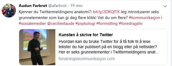 Twittermeldingens anatomi_skjermdump